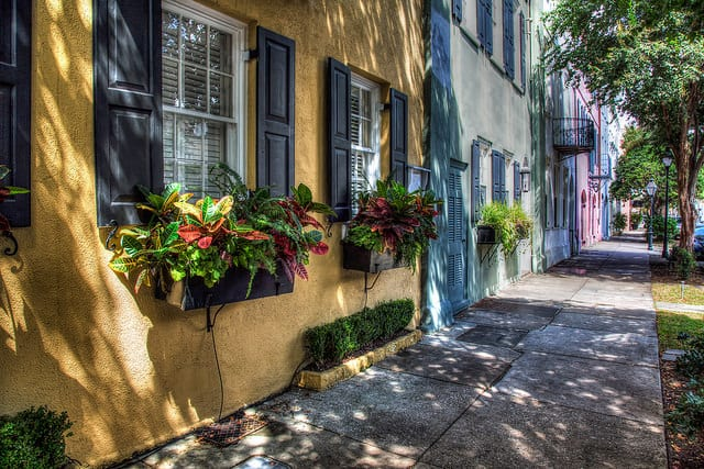 Rainbow Row, Charleston. Photo credit: John Hoey